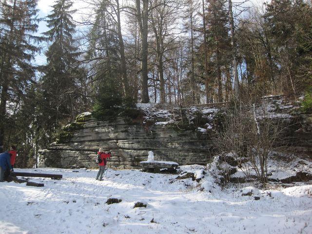 v areálu bývalého hradu Štamberk