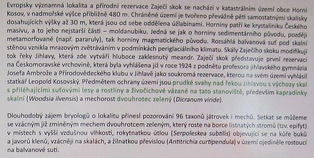 stručná připomínka významu nejstarší přírodní rezervace na Českomoravské vrchovině (1924)