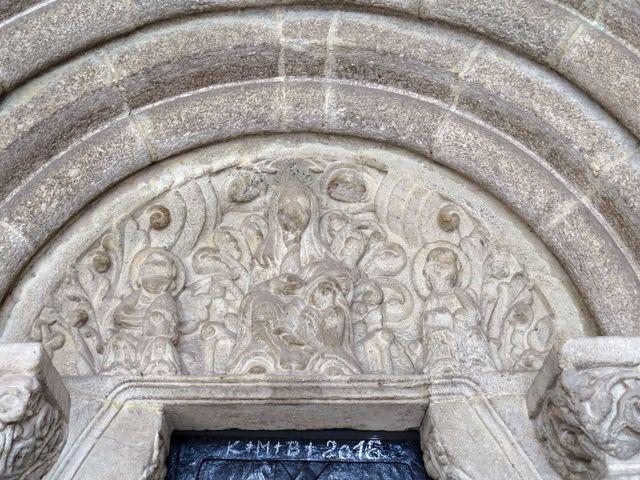 starobylý portál chrámu sv. Jana Křtitele v Měříně