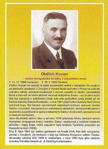 Oldřich Kocian byl 2. dubna 2016 slavnostně uveden do Síně slávy české turistiky