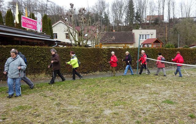 nácvik severské chůze