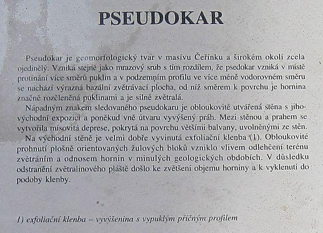 """co je """"pseudokar""""? - text z infotabule č. 11"""