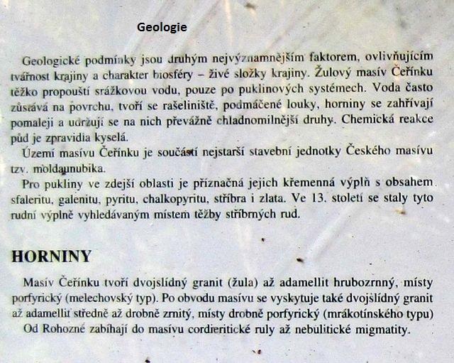 text na infotabuli Geologie; www.svatosi.cz