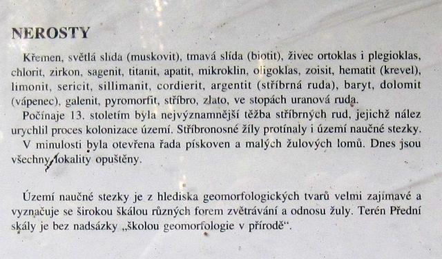 pokračování textu na infotabuli Geologie