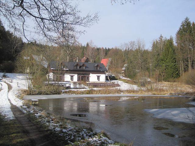 idylický obrázek z Dolních Hutí pod Čeřínkem