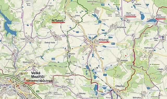 Velkomeziříčsko - 2. část - rozhledna Fajtův kopec, Křižanov, NS Šebeň, Horní Libochová, Dolní Libochová 6.4.2016