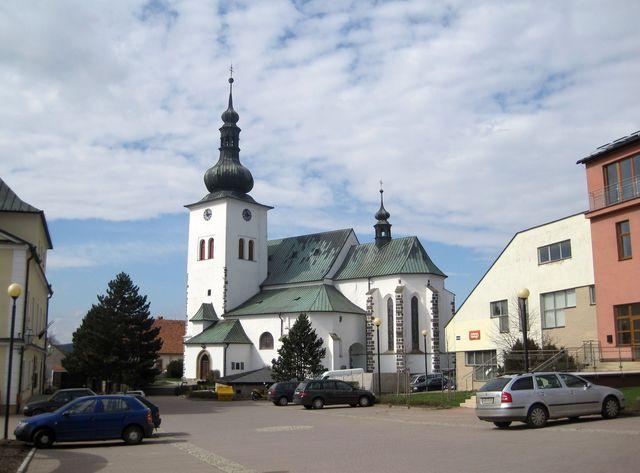 kostel sv. Václava v Křižanově byl postaven ve 13. století