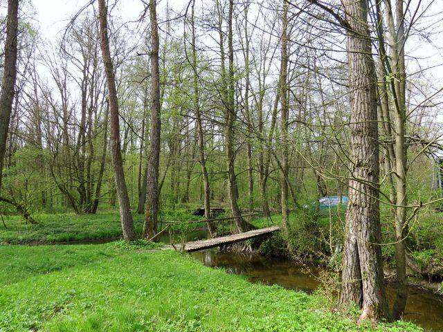lávka poblíž soutoku Rouchovanky a Rokytné