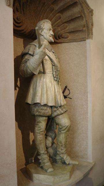 socha Albrechta z Valdštejna; foto F. Janeček