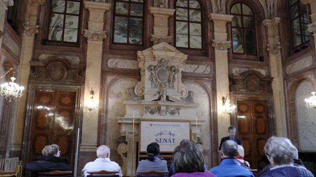 Hlavní sál Valdštejnského paláce; foto FJ