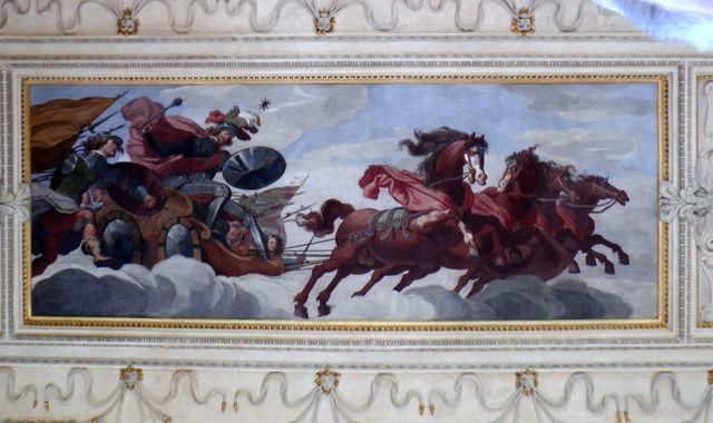 výzdoba Hlavního sálu - Valdštejn jako bůh války; foto FJ