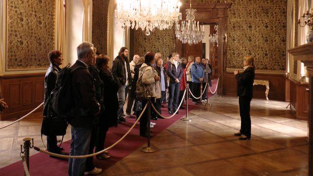 zajímavá prohlídka v Rytířské síni s jezdeckým obrazem vévody Valdštejna; foto FJ