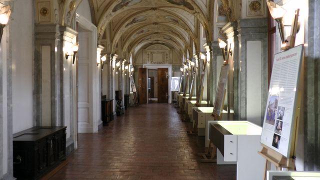 Mytologická chodba Valdštejnského paláce; foto FJ