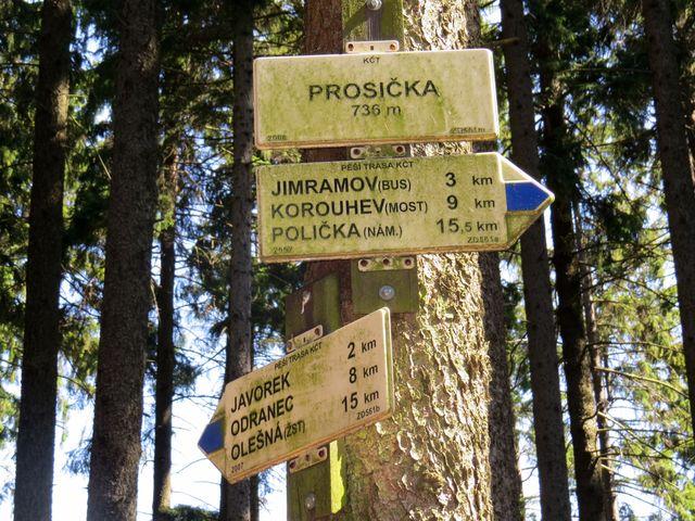 směrovník Prosička