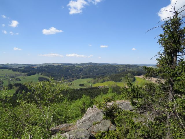 výhled do líbezné krajiny Žďárských vrchů