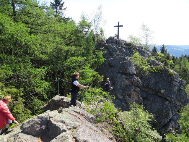 výstup na vrcholové skalisko Prosička