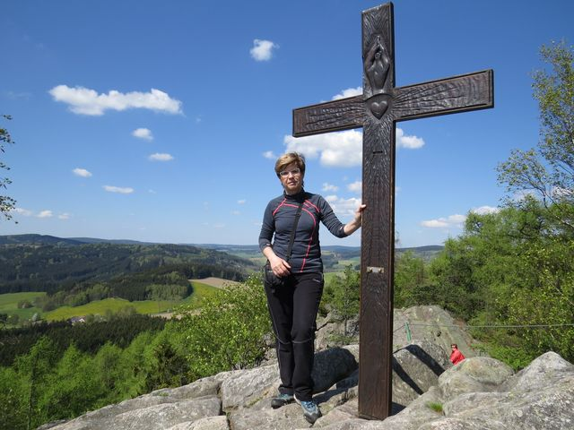 na vrcholu přírodní památky Prosička