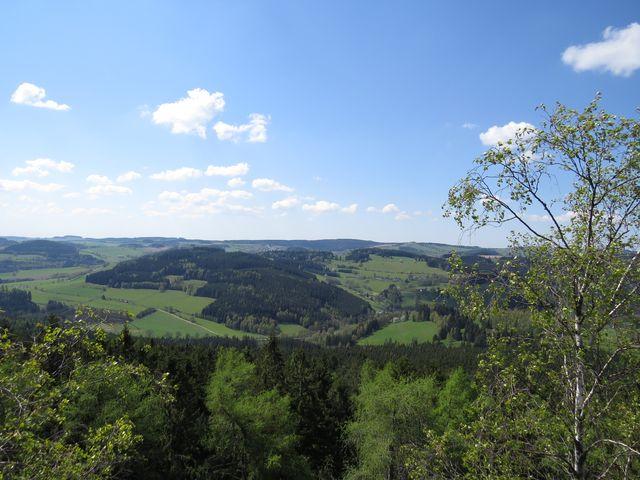 výhled z vrcholu Prosička