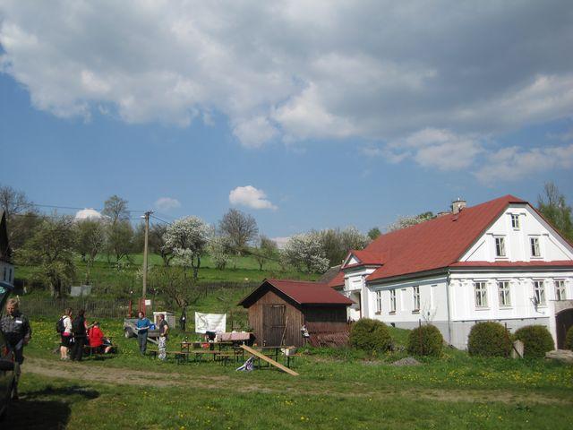 cíl pochodu v Daňkovicích