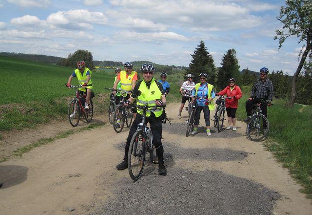 na cyklostezce č. 5215 v polích nad Vílancem