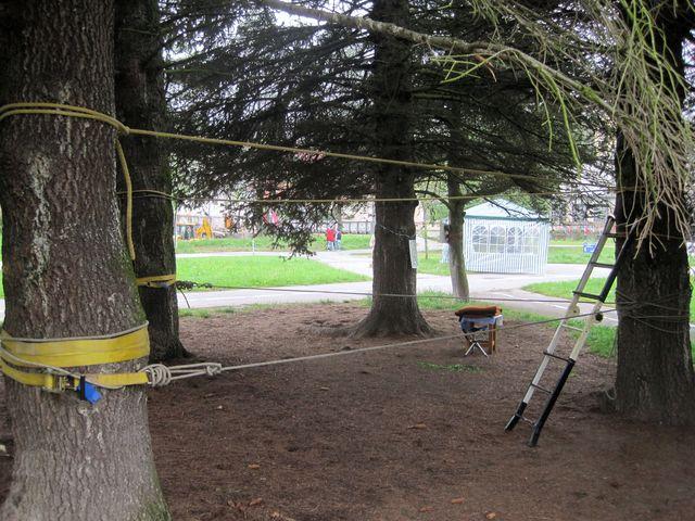 lanové centrum připravené na přijetí malých akrobatů