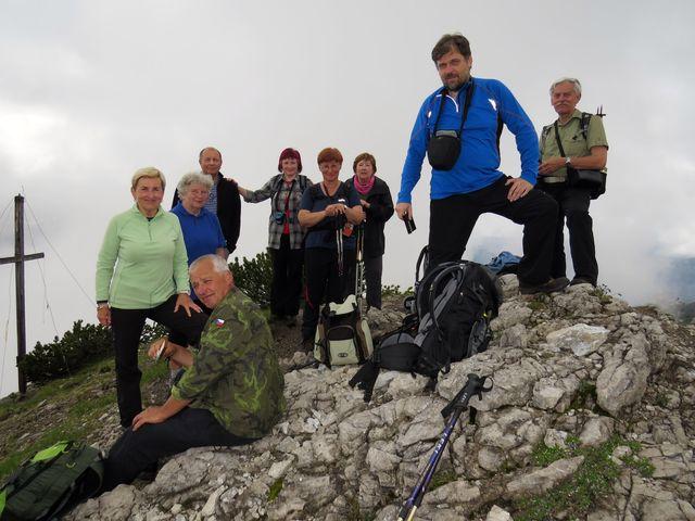 na vrcholku Pleisspitze - 2 109 metrů n.m.