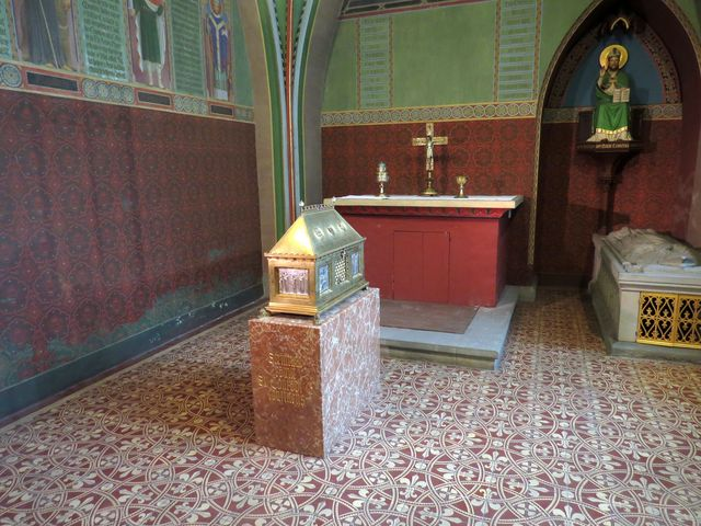 relikviář v kapli sv. Konráda