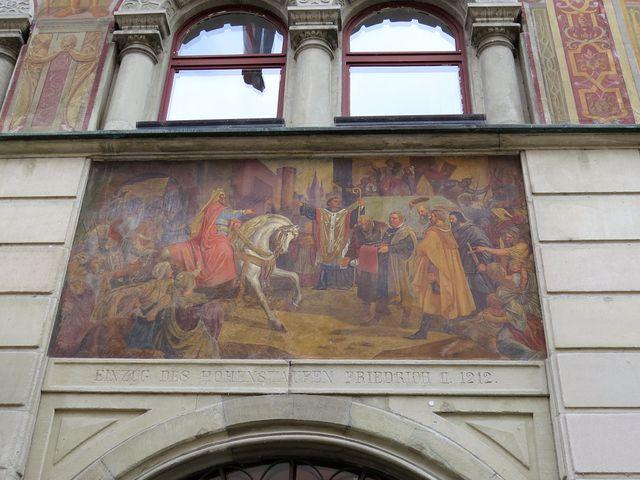 císař Fridrich II. na návštěvě v Kostnici, r.1212
