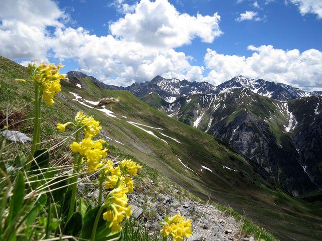sráz hory Namloser Wetterspitze