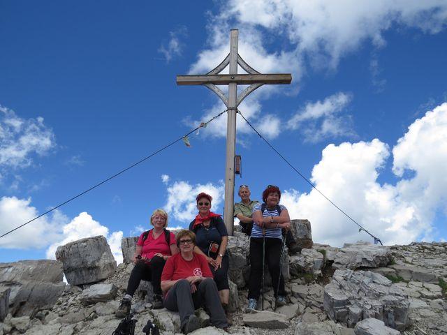 vrcholový kříž na Namloser Wetterspitze