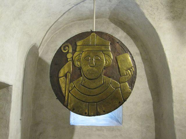 výzdoba krypty - tzv. kostnické zlaté terče z 11.-13. století