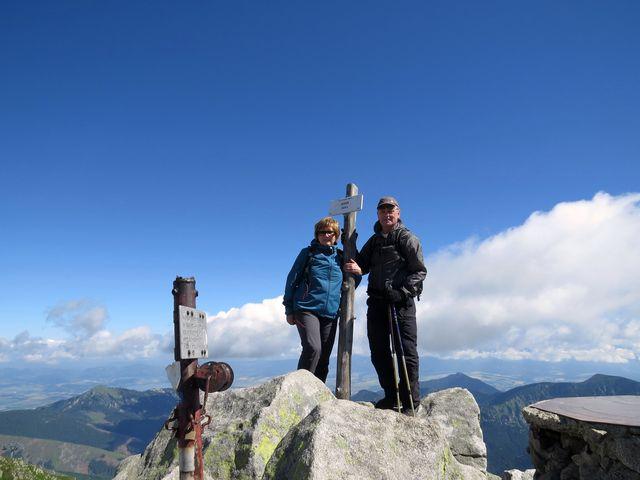 na vrcholu Chopku