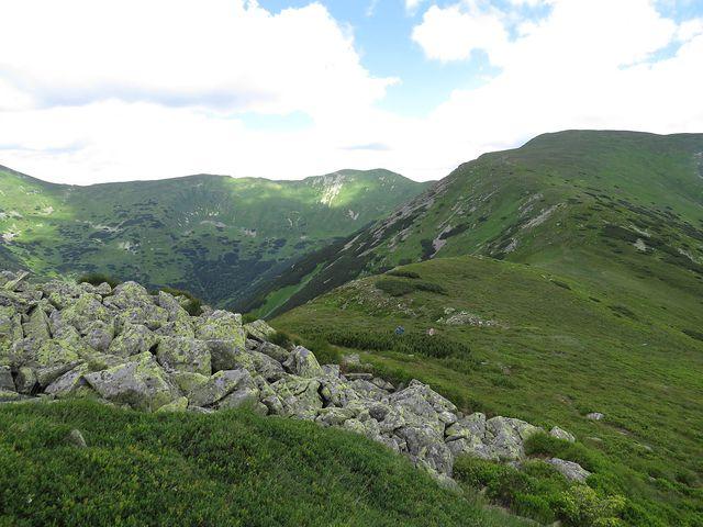 cestou ze Skalky na Žiarskou hoľu