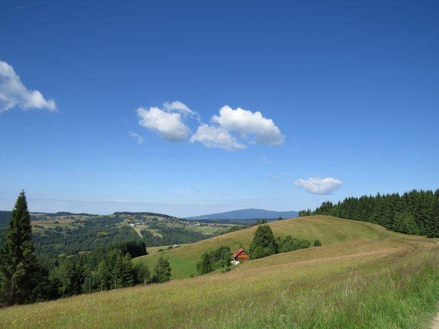 idylická krajina Slovenského rudohoří