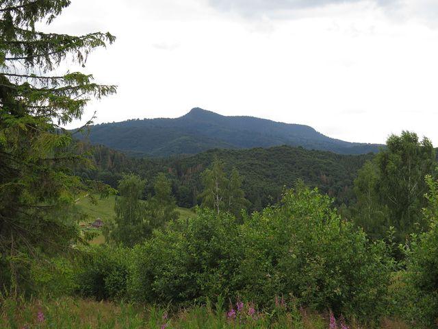 pohled na Vepor z hřebene nad Pohronskou Polhorou