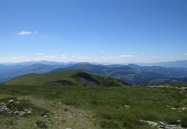 nádherné výhledy do všech stran - Slovenské rudohoří