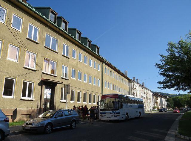 internát v Brezně, kde jsme bydleli