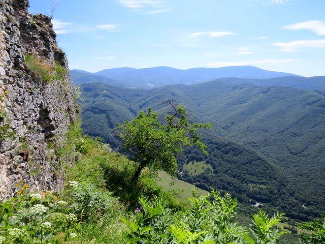 výhled z hradu Muráň