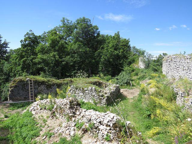 hradní areál byl velice rozlehlý, zabíral celý hřeben