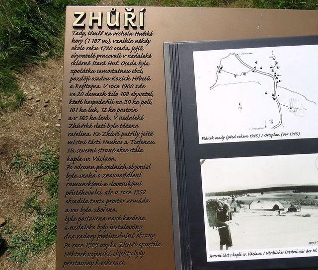 informace o bývalé osadě Zhůří