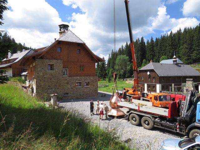 pro budovu v areálu pivovaru na Modravě je uchystaná nová věžička