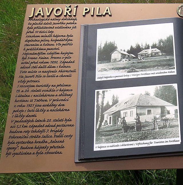 informace o bývalé Javoří Pile
