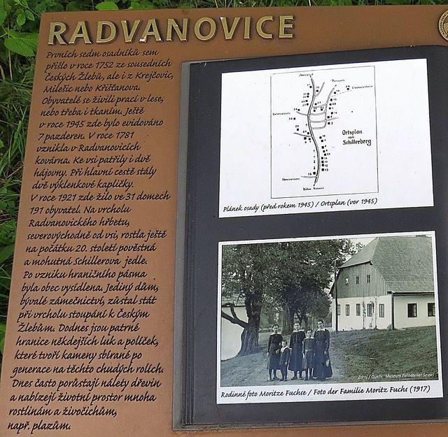 informace o bývalé obci Radvanovice