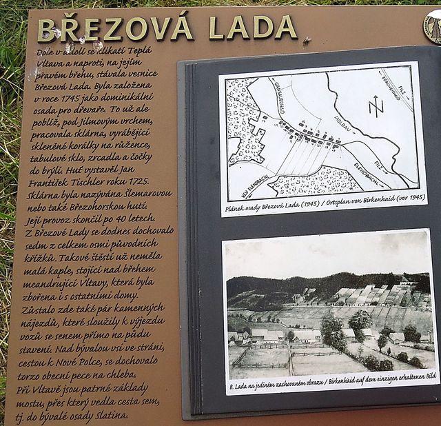 informace o bývalé obci Březová Lada