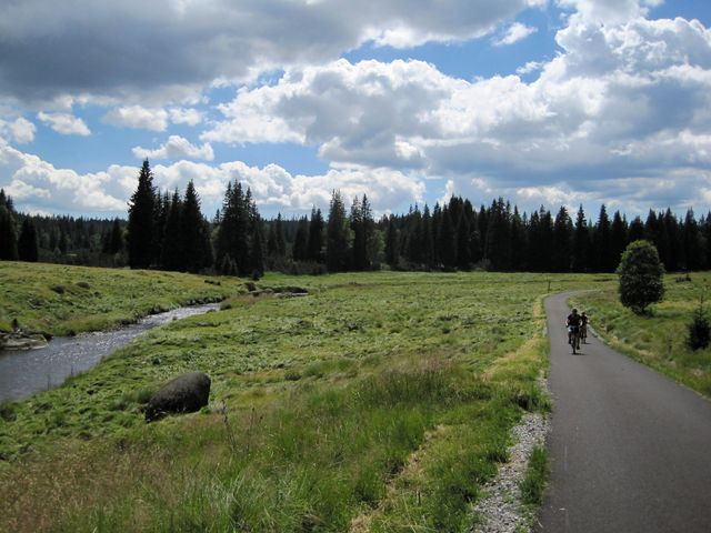 jedna z nejkrásnějších cyklostezek na Šumavě vede z Modravy kolem Roklanského potoka