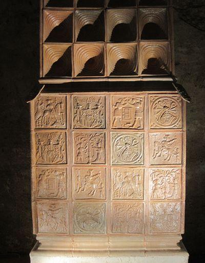 replika pozdně gotických kachlových kamen