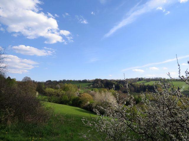 údolím protéká řeka, proto bylo hradiště vybudováno právě zde na výšině