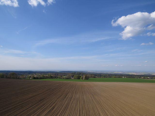 výhled do míst, kde stávalo keltské hradiště