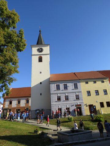 centrum Velešína - ze zrušeného kostela vznikly po rekonstrukci prostory pro kulturní akce