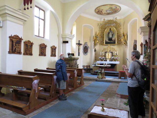 interiér kostela sv. Jana ve Svatém Janu nad Malší
